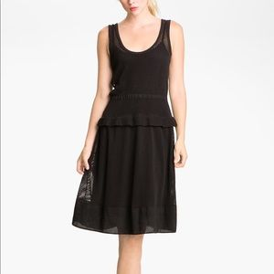 MARC BY MARC JACOBS BLACK NETTY SLEEVELESS DRESS